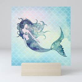 Watercolor Mermaid Mini Art Print