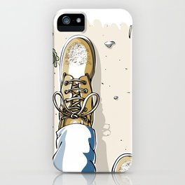Selfie with Mens Hiking Boots iPhone Case