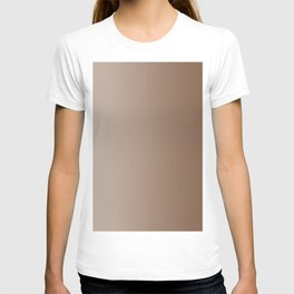 Pastel Brown to Brown Vertical Linear Gradient T-shirt