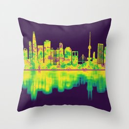 Seoul South Korea Skyline Throw Pillow
