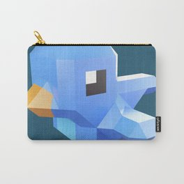 Cute low-poly Twitter bird character Carry-All Pouch