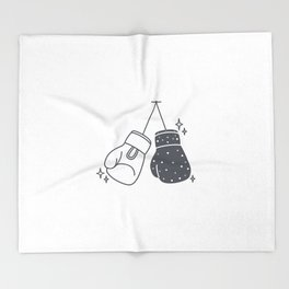 Boxing gloves night and day Throw Blanket