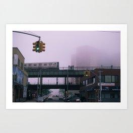 NYC Subway at Coney Island Art Print