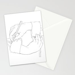 Drawing Hands - Line art from Escher Stationery Cards