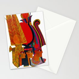 Vintage Egypt Headdress Travel Stationery Cards