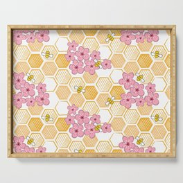 Cherry Blossom Bees Serving Tray