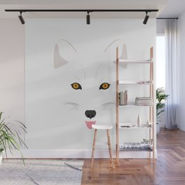 Arctic Fox (Tongues Out Project) Wall Mural