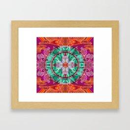 Boujee Boho Queen Mandala Framed Art Print