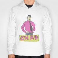 chad wys Hoodies featuring chad by gutswav