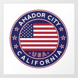 Amador City, California Art Print