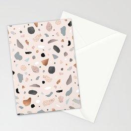 Terrazzo Stone Confetti blush Stationery Cards