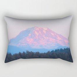 Mount Rainer Alpenglow Rectangular Pillow