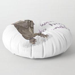 Otter Valentine Floor Pillow
