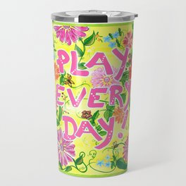 Play Every Day! Flower Painting Travel Mug