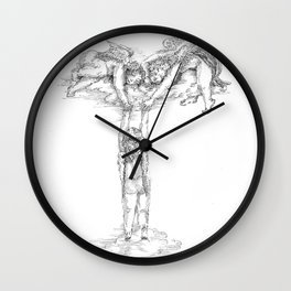 Letter T Wall Clock