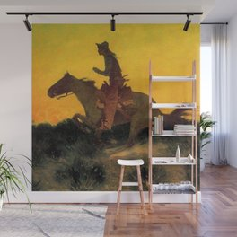 "Frederic Remington Western Art ""Against the Sunset"" Wall Mural"