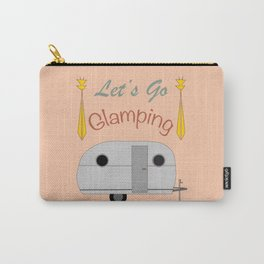 Let's Go Glamping Happy Camper Art Carry-All Pouch