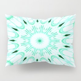 Mint Mandala Explosion Pillow Sham