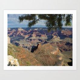 Battleship Rock, Grand Canyon NP, AZ -- Just after sunrise Art Print
