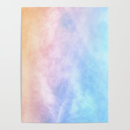 Pink Cotton Candy Sky Poster
