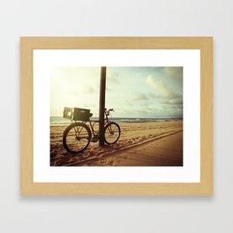 Sunrise in Recife beach Framed Art Print