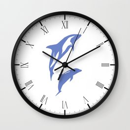 A Pair of Dolphins Wall Clock