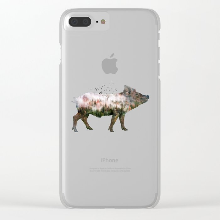 Pig Clear iPhone Case