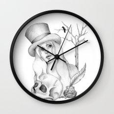 Mrs. Edgar Allan Poe Wall Clock
