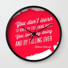 Richard Branson success quote Wall Clock
