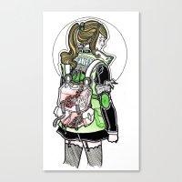 sailor jupiter Canvas Prints featuring Sailor Jupiter by Helen Mask