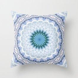 SUMMER BLUE - OCEAN AND SUNSHINE PATTERN Throw Pillow
