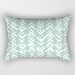 Seafoam Green Arrowheads Rectangular Pillow