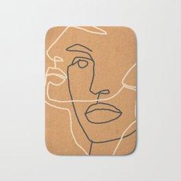 Abstract Face 6 Bath Mat