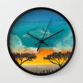 Jungle sunset Wall Clock