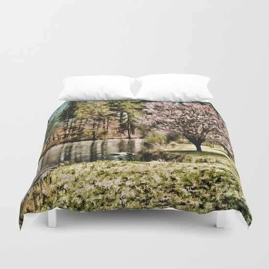 Spring Time In New England Duvet Cover