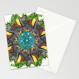 Disco zebra mandala Stationery Cards