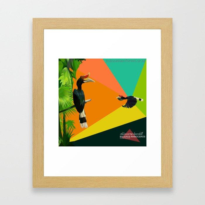 bucheros rhinoceros Framed Art Print