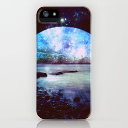 Mystic Lake Dark & Colorful iPhone Case