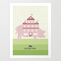 butcher billy Art Prints featuring Butcher  by Taylor Gersch