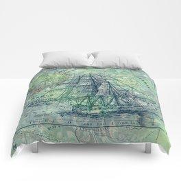 Vintage Clipper Ship Comforters