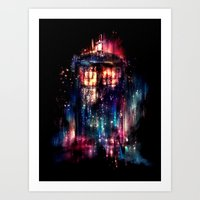 samsung Art Prints featuring All of Time and Space by Alice X. Zhang