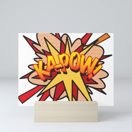 Comic Book Pop Art KA-POW Mini Art Print