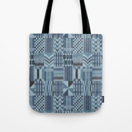New Kente denim Tote Bag