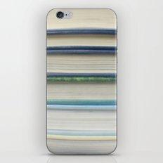 Book stripes - blue iPhone & iPod Skin