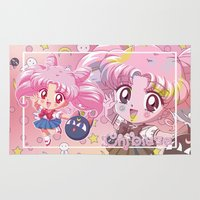 chibi Area & Throw Rugs featuring Chibi Chibiusa by Neo Crystal Tokyo