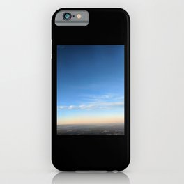 Sunset sky view from airplane iPhone Case