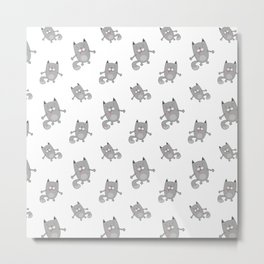 Cute cats pattern Metal Print