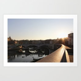 Parco Adriano & The Tiber Art Print