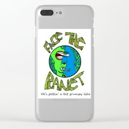 Face The Planet Clear iPhone Case