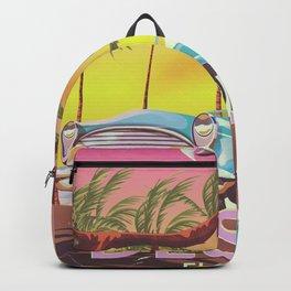 Destin Florida USA vintage style travel poster Backpack